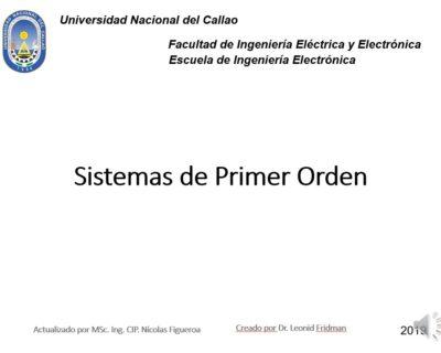 Sistemas de primer orden