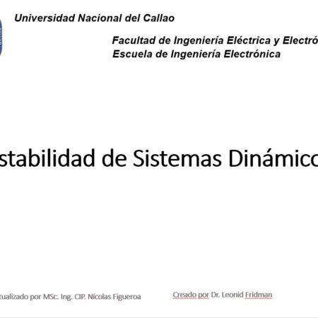 Estabilidad Sistemas Dinámicos