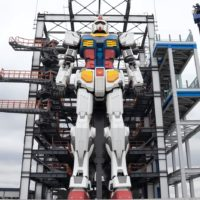 El robot gigante Gundam de Japón está casi completo
