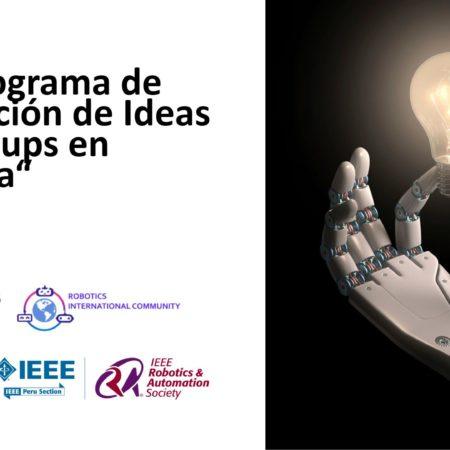 1er Programa de Aceleración de Ideas de Startups en Robótica